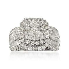 Diamond Engagement Ring in 14kt White Gold. This is surely question-popping worthy. #valentinesday #love #engagement