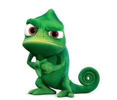 Pascal the Chameleon from Tangled, the animated movie featuring the Mandy Moore as the voice of Rapunzel. Pascal Tangled, Tangled Movie, Disney Tangled, Tangled 2010, Tangled Party, Disney Princess, Art Disney, Disney Concept Art, Disney Sidekicks