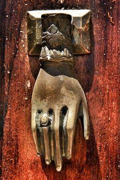 Ringed Hand Door Knocker, Tavira, Portugal