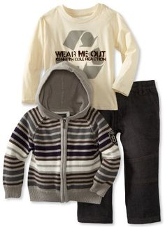 Kenneth Cole Boys 2-7 Hooded Sweater 3 Piece « Clothing Impulse