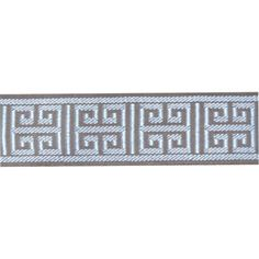 Corinth Dusk Tan and Silver Tape Trim Swatch - SW46820-Swatch - Fabric By The Yard At Discount Prices