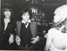David Johansen and Johnny Thunders with Debbie Harry, 1977.