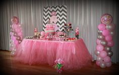 Pink and Grey Elephant Baby Shower | CatchMyParty.com