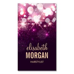 Hairstylist - Pink Glitter Sparkles Double-Sided Standard Business Cards (Pack Of 100). This is a fully customizable business card and available on several paper types for your needs. You can upload your own image or use the image as is. Just click this template to get started!