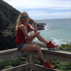 Looks like red is a colour of the month for me! #model #melbourne #australia #greatoceanroad #visitmelbourne #ocean #fun #sunny #sunglasses #oakley #skechers #active #weekend #apollobay #lorne #smile #lifestyle #fit #spring #red #nature #beautiful #view #passion #expressyourself #exciting #happy by piendtowardh http://ift.tt/1IIGiLS