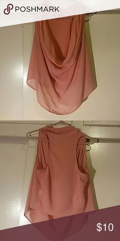 Cowl Neck Top Super stylish top featuring a cowl neck. Size: L. Tops
