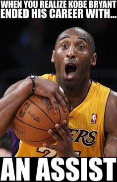 When Kobe Bryant Ended His Career With An Assist!