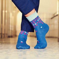 Socke Scotti Designkollektion 'Blaustich'  #dottedsocks #mensocks #streetstyle #menstyle #accessories