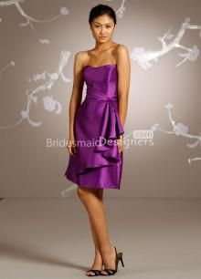 Lazaro Bridesmaids and Special Occasion Dresses Style 3125 by JLM Couture, Inc. Dark Purple Bridesmaid Dresses, Discount Bridesmaid Dresses, Tea Length Bridesmaid Dresses, Bridesmaids, Purple Dress, Evening Dresses Plus Size, Bridal Wedding Dresses, Golf Wedding, Special Occasion Dresses