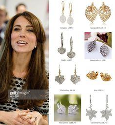 Shop repliKates of the Kiki Lauren pave diamond leaf earrings