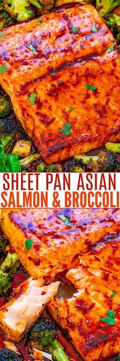 Sheet Pan Asian Salmon and Broccoli - Averie Cooks