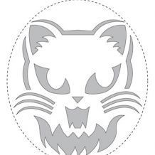 Scary Cat Pumpkin Carving Stencil for Halloween Cat Pumpkin Stencil, Cat Pumpkin Carving, Awesome Pumpkin Carvings, Pumpkin Carving Templates, Scary Pumpkin, Carving Pumpkins, Pumpkin Ideas, Pumpkin Designs, Spooky Halloween Pictures