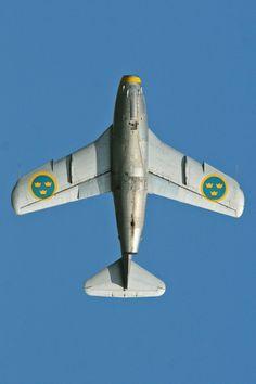 "Saab J29 Tunnan (""Flying Barrel"") - Flygvapnet (Swedish Air Force), Sweden"