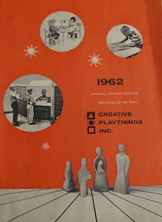 Product catalog featuring the wooden figures of Antonio Vitali, United States, 1962, by Creative Playthings.