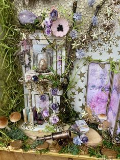 Fairy Room, Book Fairy, Paper Butterflies, Paper Flowers, Tarot, Fairy Houses, Book Nooks, Paper Decorations, Faeries