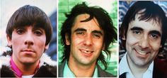 Early, Mid, and Later Keith Moon.