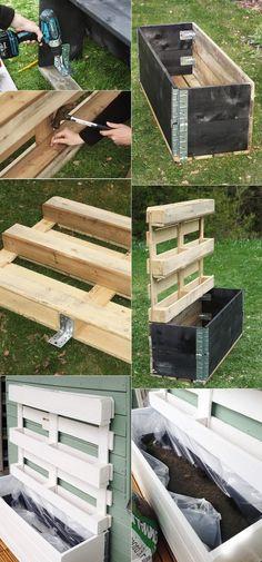 fabriquer une jardinière verticale en palette bois diy