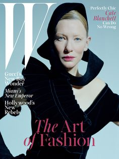 Cate Blanchett on the cover of W Magazine