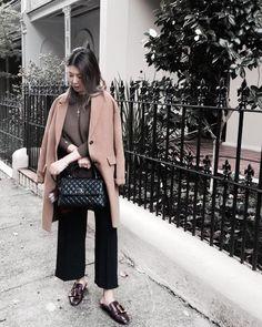 Weekend #ootd 😎 Coat #uniqlo Sweater #bassike  Pants #zara Shoes #bally Bag #chanel ---  #lookoftheday #chanelcocohandle #chanellover #mystyle #mylook #instastyle #whatiwear #chanelbag #ballyjanelle #styleblogger #luxuryfashion #chanelcocohandlesmall #chanelcocohandleblack