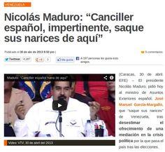 Maduro responde con insultos a la oferta de mediación de España
