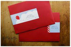 RED ENVELOPE Balloon Birthday, 4th Birthday, Birthday Ideas, Red Envelope, Red Balloon, Address Labels, Rowan, Beautiful Things, Cloud