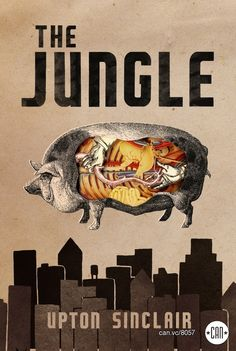 The Jungle   25 Beautifully Redesigned Classic Book Covers