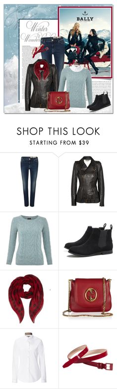 """Winter Wonderland"" by redflowergirl ❤ liked on Polyvore featuring WALL, ASOS, Bally, AllSaints, Alexander McQueen, Yumi, AX Paris, Gucci, Burberry and Cole Haan"