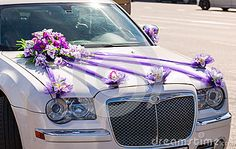 luxury car wedding flowers - Recherche Google