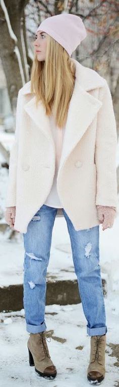 #Winter #Pastels  by Fashion Around Stylish Clothes For Women, Stylish Outfits, Fall Winter Outfits, Autumn Winter Fashion, Street Chic, Street Style, Street Fashion, Winter Pastels, I Love Fashion