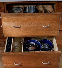 Storage Solutions Details - Base Pots and Pans Storage - KraftMaid