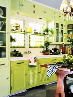 JUST GOTTA LOVE THE GREENS 20 Modern Kitchens Decorated in Yellow and Green Colors