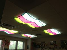 I LOVE these classroom light filters for covering my fluorescent lights. Creates an inviting atmosphere in my room for students.