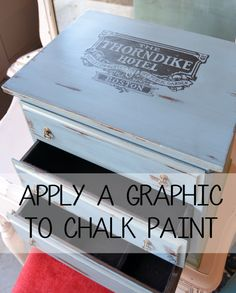 apply a graphic to chalk paint flyingc-diy.com