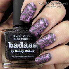 Nail Art by Belegwen: Picture Polish Badass and China Glaze Harmony