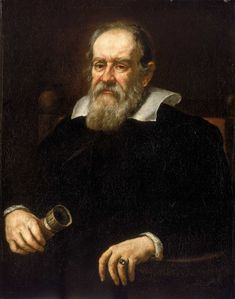 Galileo Galilei, 1564-1642, physicist, astronomer, genius. Spent the last ten years of his life under house arrest because of, u.a., his belief in heliocentrism.