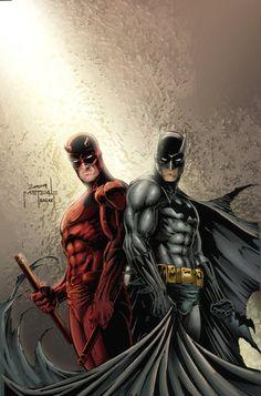Daredevil & Batman by ~JeffieB on deviantART