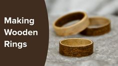 I show you step by step on how to make these beautiful wooden rings from sheets of veneer using bent lamination. Otherwise known as bent wood rings. For this...