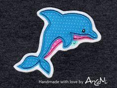 Aufnäher - Aufnäher Delfin ♥ Applikation in 3 Größen erhältli - ein Designerstück von AnCaNi bei DaWanda