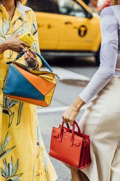 September 8, 2016  Tags Orange, Red, Blue, Loewe, Yellow, Saint Laurent, Women, Prints, Bracelets, Bags, Rings, New York, Puzzle Bag, SS17 Women's