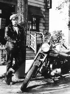 Marlon Brando in 'The Wild One', 1953.