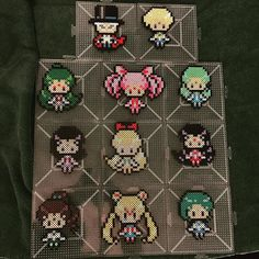 Sailor Moon set perler beads  by Jake Tastic