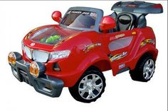 Remote Control 631R Thunder Jeep with Moving Engine 6V (Red)
