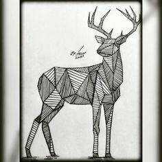 Deer Cervo Desenho Drawing  Insta: icarodn27