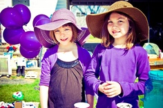 Girls in purple. Raising money for the March for Babies. www.lisalynnphotos.com