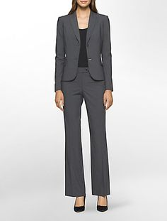 Update your business attire with Calvin Klein's fashion-forward women's pants suits, skirt suits & women's blazer jackets in trendy colors & fabrics. Business Dresses, Business Attire, Pantsuits For Women, Pinstripe Suit, Calvin Klein Women, Skirt Pants, Fashion Forward, Work Wear, Clothes For Women