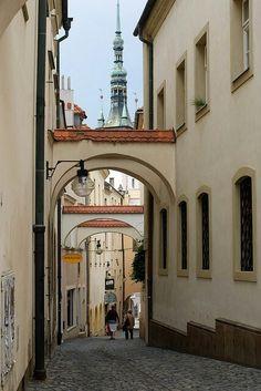 Street view in Olomouc (North Moravia), Czechia. Places Around The World, Travel Around The World, Around The Worlds, Wonderful Places, Beautiful Places, World Street, Eastern Europe, Czech Republic, Beautiful World