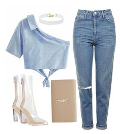 """""""Good Girl?"""" by sheekshat on Polyvore featuring Topshop, Yves Saint Laurent and Vanessa Mooney"""