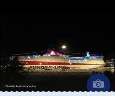 """«Βλέποντας το KNOSSOS PALACE έτοιμο να αποπλεύσει τότε σίγουρα ταξιδεύεις» μας έγραψε ο Dimitris Assimakopoulos που μοιράστηκε μαζί μας την όμορφη αυτή φωτογραφία! #Photo_of_the_week """"Watching KNOSSOS PALACE ready to sail, you surely get in a traveling mood"""" wrote Dimitris Assimakopoulos as a caption for his wonderful photo."""
