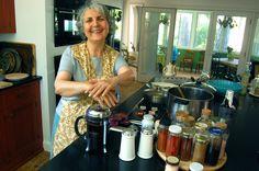 Innkeeper Shadi Towfighi making coffee at the Kismet Inn, Bath Maine...