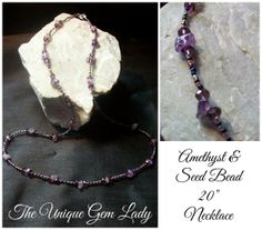 Hand Crafted Amethyst Purple Gemstone Beaded by TheUniqueGemLady, £6.50